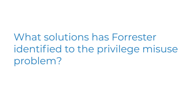 What solutions has Forrester identified to the privileged misuse problem?